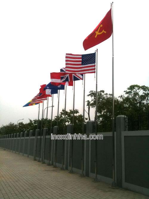 cột cờ inox giá rẻ, cột cờ inox đình hà uy tín tại Việt Nam